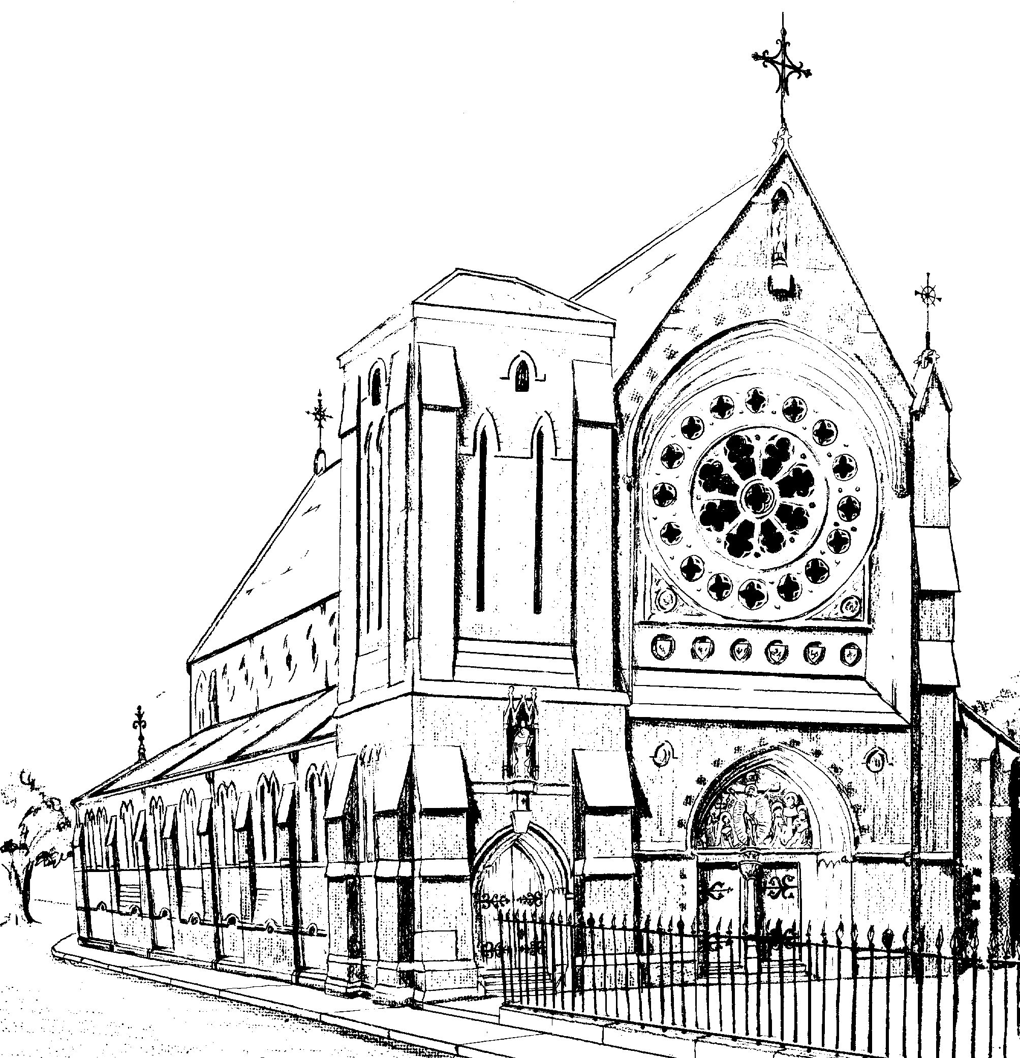 Old Sketch of Church